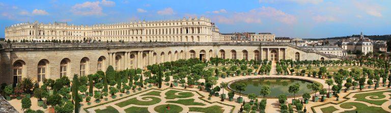 Orangerie et château de Versailles