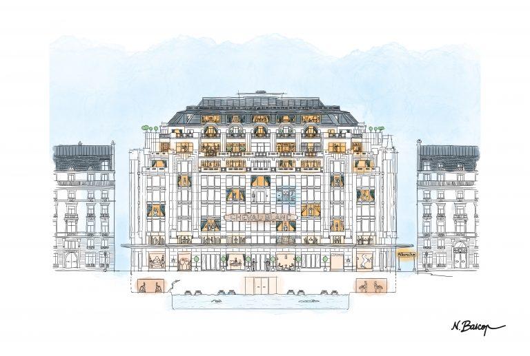 Cheval Blanc Paris_illustration facade CBP finale