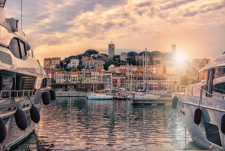 City of Cannes on the French Riviera