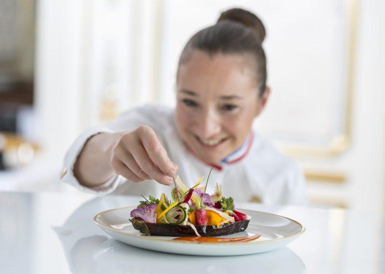 Le Negresco - La Rotonde-aubergines au miso, salade de legumes croquants-(c)Didier Bouko -0261