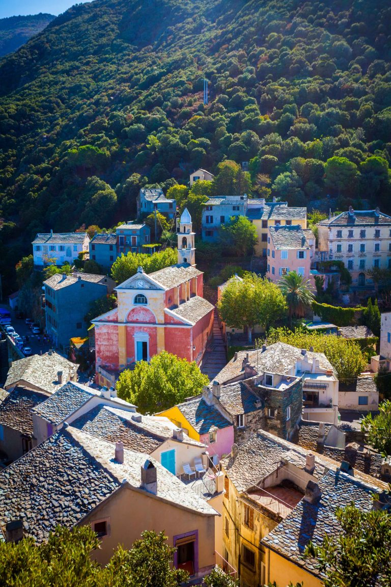 Village of Nonza in Corsica
