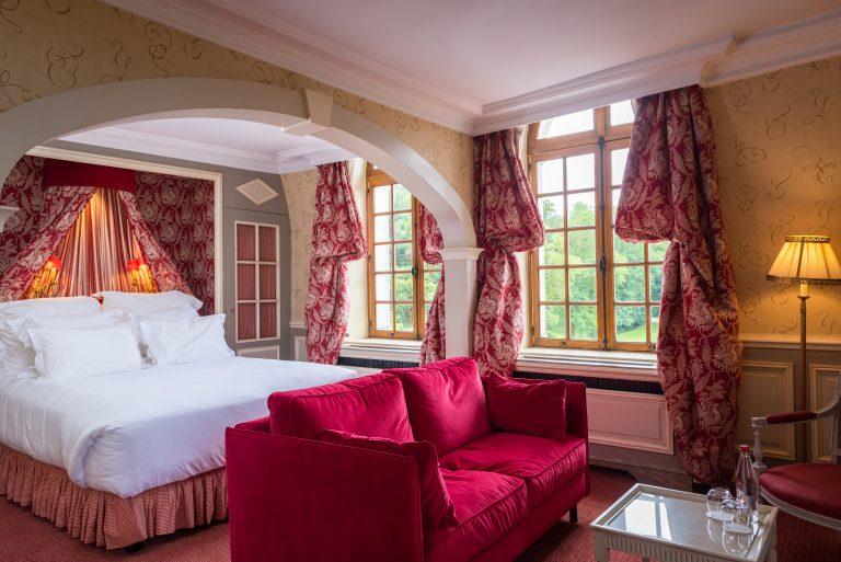 Chateau de Courcelles_Chambre n°7 Prestige - Vue sur la Chambre 2