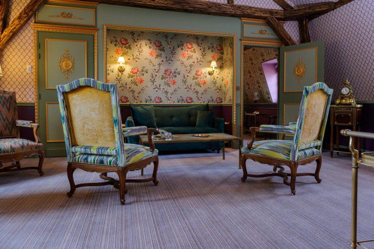 Chateau de Courcelles_Suite Marie-Louise - Vue sur le salon 1